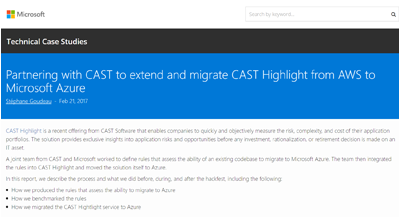 CAST and Microsoft Partnership Case Study